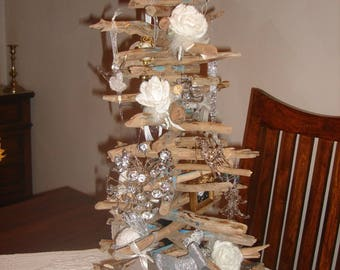 Driftwood decorated Christmas tree