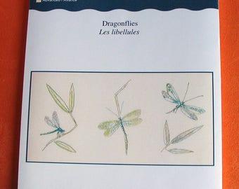 Kit DMC counted cross stitch dragonflies