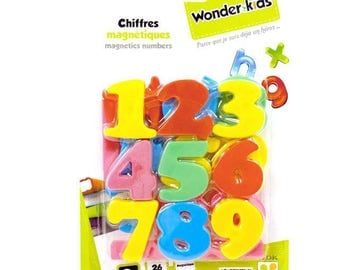 Magnetic numbers 26 pieces from 3 years