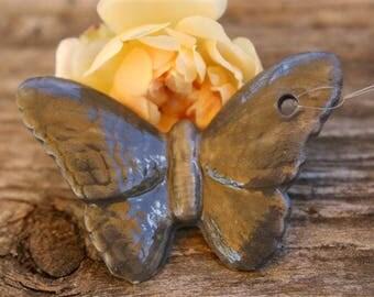 Flying grey Butterfly porcelain