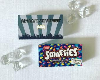 Batman smarties box cover