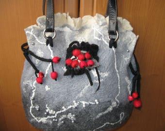 Bag felted, felted bag, handmade bag, stylish bag, bag of wool,