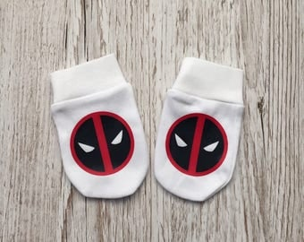 Deadpool Inspired Baby Scratch Mitts