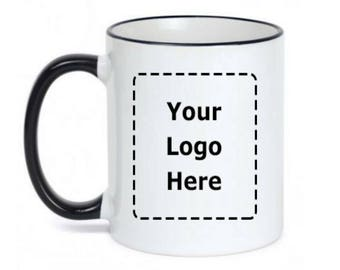 Custom Logo Mug - Personalized Logo Cups - Shop owner cups - Business owner - Dishwasher safe - Microwave Safe - Printed Coffee Mugs Logo