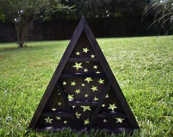 Starry Galaxy Triangle Crystal Shelf