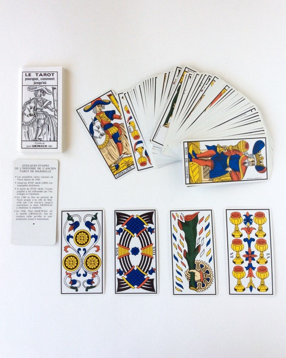 Tarot Cards. Vintage French Tarot Cards. Old Tarot Cards