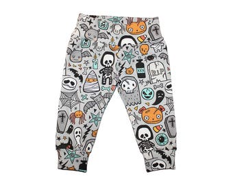 Halloween Leggings - Kids Leggings - Girls Leggings - Boys Leggings - Halloween Pants - Baby Leggings - Babys First Halloween Outfit - Bat