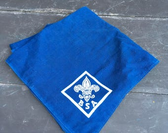 Vintage dark blue Boy Scouts of America scarf neckerchief
