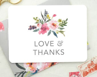 Thank You Card. Wedding Thank You Notes. Card Set Wedding Thank You. Shower Thank You Cards. Thank You Cards for Wedding Shower.