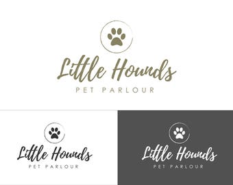 Premade Logo, Paw Print Logo, Pet Logo, Dog Grooming Logo, Logo and Branding, Pet Photography Logo, Dog Logo, Pet Supplies Logo