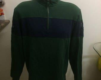Vintage Nautica 1/4 zip up sweater size large