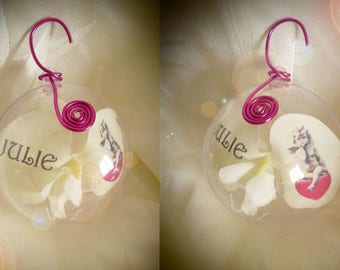 "Ball of Christmas ""ANGELO"" to customize, choice of color"