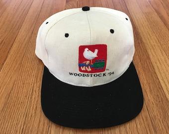 Vintage 90s Woodstock 1994 Snapback Hat