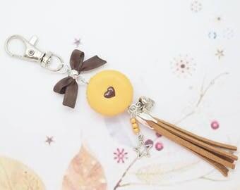 chocolate macaroon Keyring