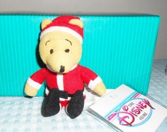 """Disney Japan Rare Magnets """"Xmas Nightshirt Pooh"""" Or """"Santa Pooh """"/4 Inches Tall And Magnetic/Such A Cute Gift For The Holidays! Tokyo Tags!"""