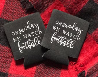 Football Sunday Drink Cozy // sunday funday // gifts for him // beer cozy // gifts for her // nfl college football // housewarming // party