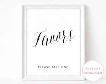 Wedding Favors Sign, Printable Wedding Signs, Printable Wedding Poster, Wedding Sign, Take One Poster, Wedding Favors Poster, Take One Sign
