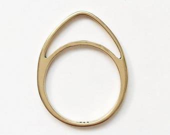Artemis Half-Moon Skinny Stack Ring
