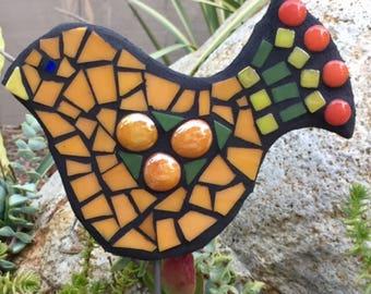 Little Orange bird mosaic ornamnet