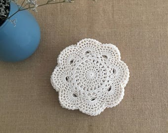 "Lot 12 pcs ~  Hand crochet 8"" Round doilies, handmade doilies for wedding, handmade round coasters, table mats for home decor"