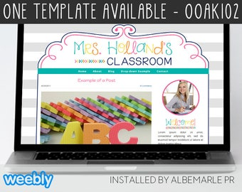 OOAK102 Template for Weebly - Classroom Weebly Template