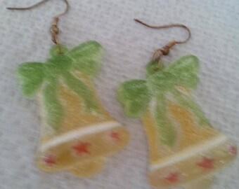 B#241  Christmas Bells handmade pierced earrings