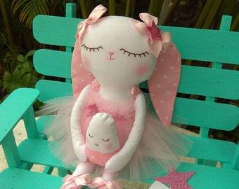 Rabbit ballerina, 30 cm, 100% handmade