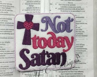 Pas aujourd'hui Satan livre bande fichier de broderie numérique