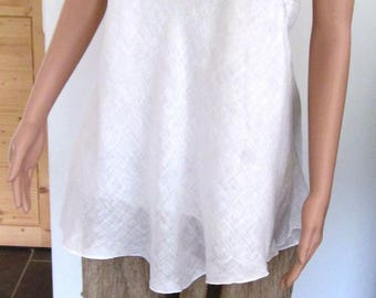 Tunic woman linen white
