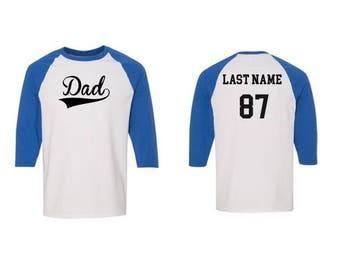 Dad Baseball Tee, Fathers Day Custom Baseball Tee, Super dad Baseball Tee, Fathers Day Apparel, I love my dad, Dad Shirt.