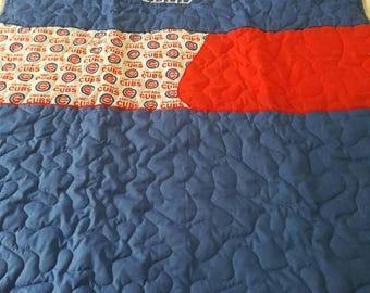 Handmade Wrigley Field Chicago Cubs quilt