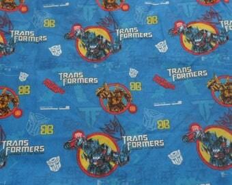 Rare Transformers cotton mix fabric