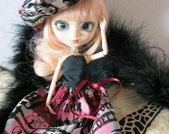 dress and beret Pullip