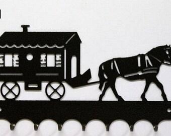 Hangs 26 cm pattern metal keys: horse trailer