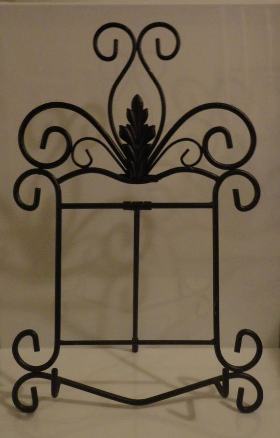 """17""""H x 10 1/2""""W Wrought Iron Black Easel for Paintings Up to 16""""W x 20""""H or 20""""H x 16""""W"""