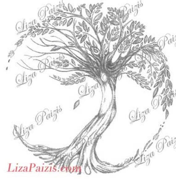 tree of life tattoo design no sun or moon. Black Bedroom Furniture Sets. Home Design Ideas