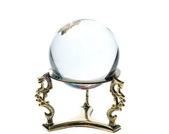 Scrying Crystal Ball & Golden Dragon Holder