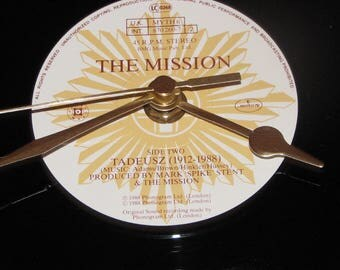 "The mission tadeusz (1912-1988)  7"" vinyl record clock"