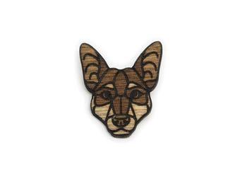 Wooden Kelpie Pin