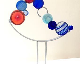 Playing the Blues -  Art Glass sculpture