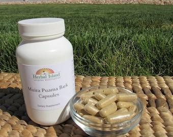 Muira Puama Bark Powder Capsules 500mg Each (Ptychopetalum Olacoides)