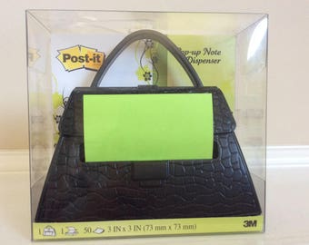 A Vtg New! Purse Figure Pop Up Note Dispenser 3M.