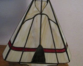 stained glass lamp fan lamp nite light home decor native american art