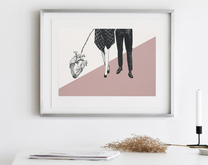 A walk with a heart print