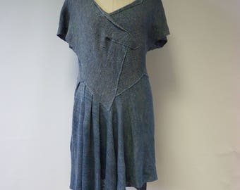 Artsy knitted linen tunic, XL size.  Only one sample.