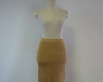 The hot price. Asymmetrical sand coloured linen skirt, M size. Only one sample.
