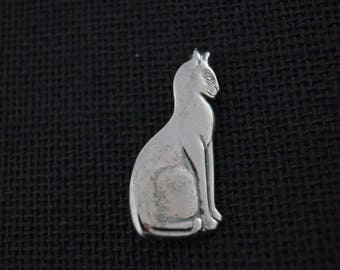 Vintage Sterling Silver Brooch - Vintage Brooch - Vintage Silver Brooch Vintage Silver Cat Brooch - Vintage Cat Brooch - Vintage Cat Pin