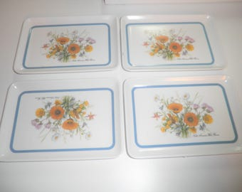 4 Vintage Pimpernel Made in USA 6 x 4 trays