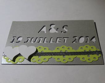 Rectangle magnet - theme magnet initial and date