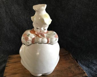 Vintage De Lee pottery ceramic cookie jar
